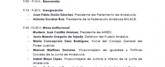 """I Jornada """"Justicia Restaurativa en Andalucía"""""""
