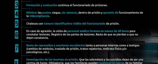 14 organizaciones reclaman medidas contra la tortura y los malos tratos en prisión